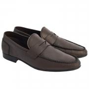 Sapato Masculino Mocassim Flexível cor Marrom Café 050/600CAF Flex