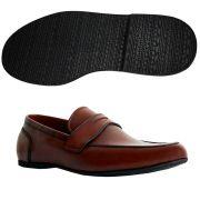 Sapato Masculino Mocassim Casual Flexível cor Mogno 050MMOG