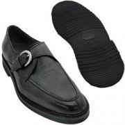 Sapato Masculino Monk Preto Solado em Borracha Leve 058GRBRPRE