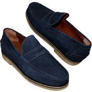 Sapato Masculino Azul Marinho Solado em Crepe Natural 099ATHOSCAMAZU
