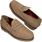 Sapato Masculino Mocassim Casual Solado Crepe Natural 099ATHOSCAMNUD