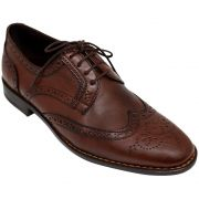 Sapato Social Oxford Derby Brogue Cor Mogno 301MOG