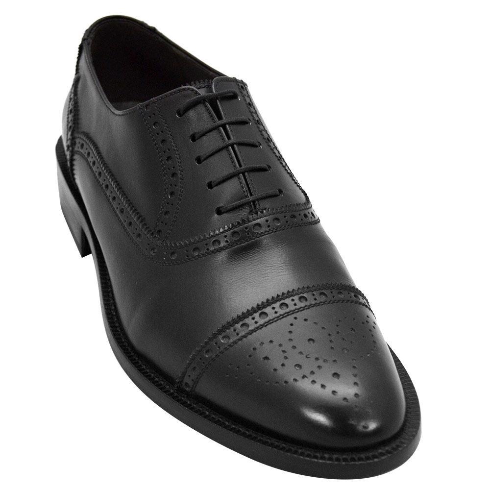 Sapato Masculino Oxford Half Brogue em Cromo Alemão 299INGPRE