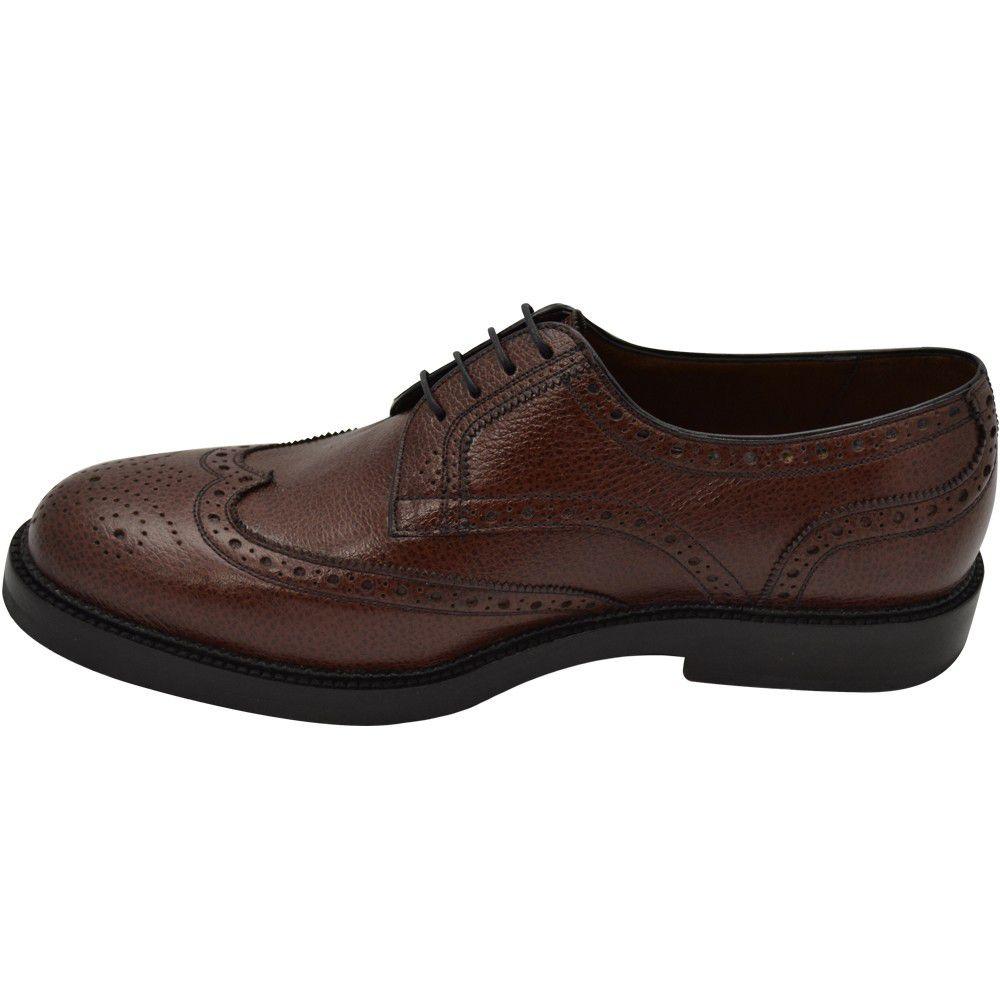 Sapato Masculino Derby Brogue Couro Granulado e Solado Trator 301GRANPIN