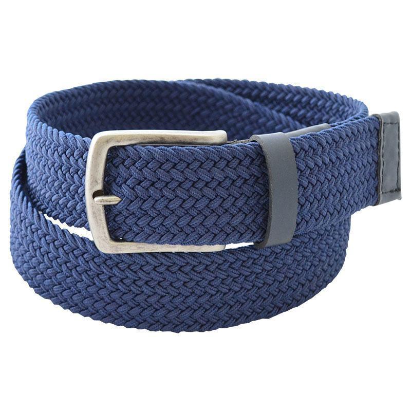 Cinto Masculino em Elástico Trançado Azul 4TRELAZU