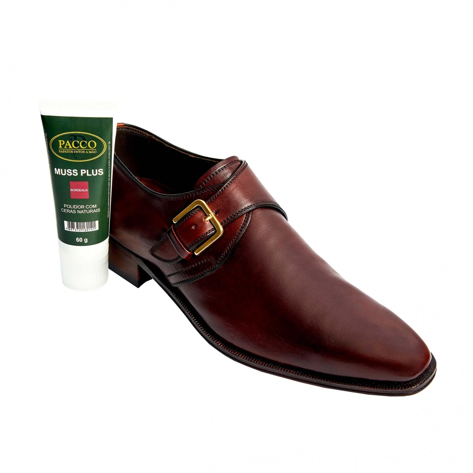 Graxa cor Vinho para sapatos em couro liso Graxa VIN