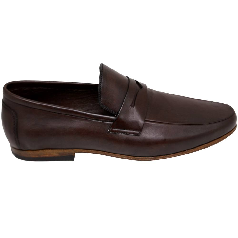 Sapato Casual Penny Loafer cor Café 111MLVCAF