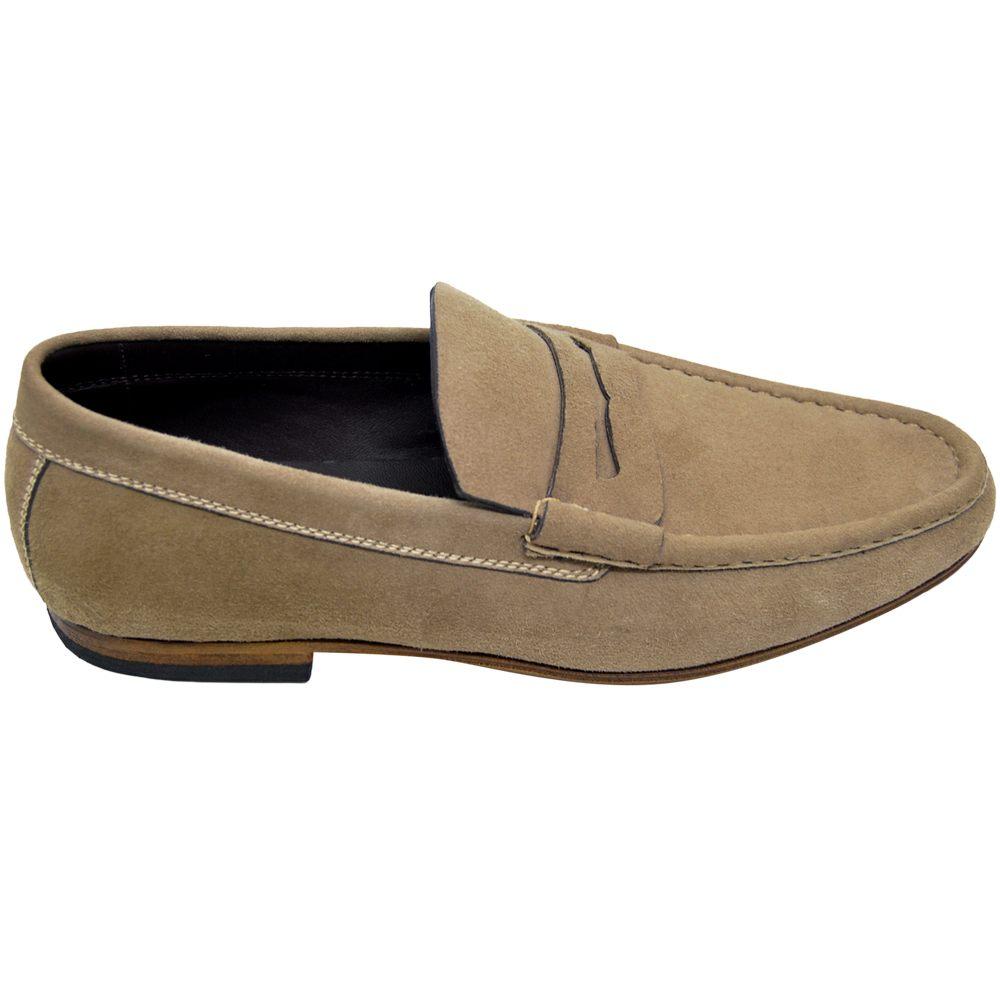 Sapato Masculino Esportivo Penny Loafer cor Clara 666MTAU