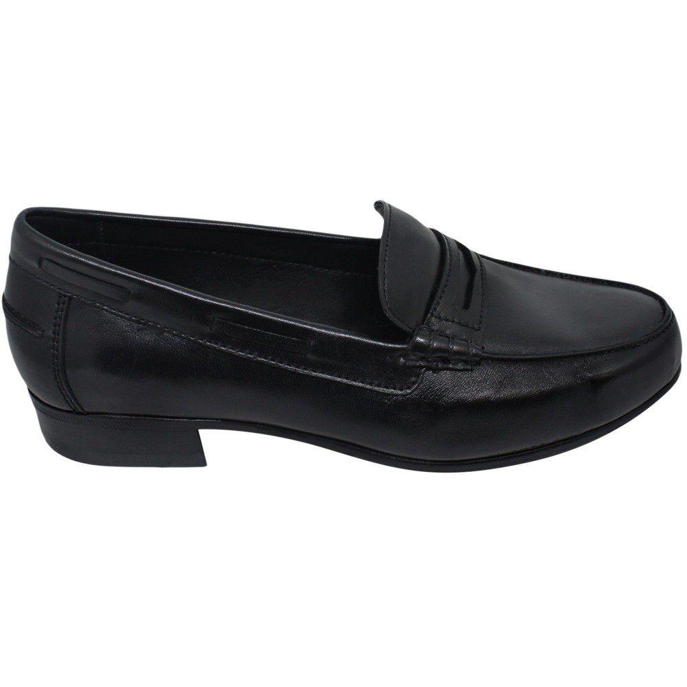Sapato Feminino Mocassim College cor Preto 011MPRE Luna