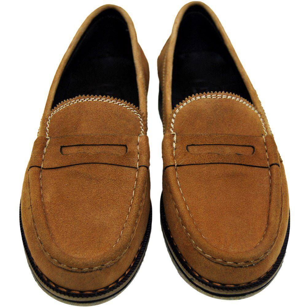 Sapato Feminino Mocassim Solado Crepe Natural 011MCRHC