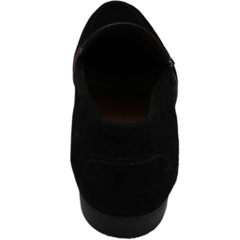 Sapato Masculino Mocassim Casual em Camurça Preto 111MLGCAMPRE