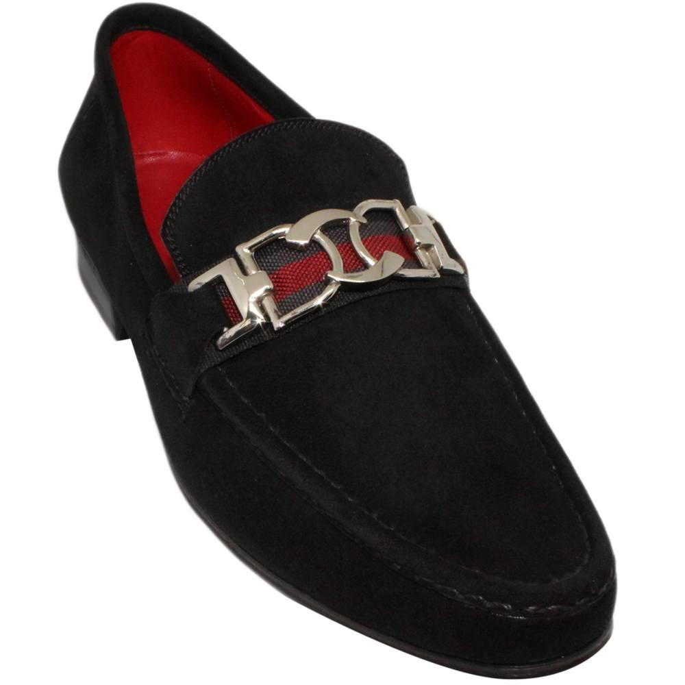 Sapato Masculino Arrojado em Camurça Preto 666BDPRE Italo