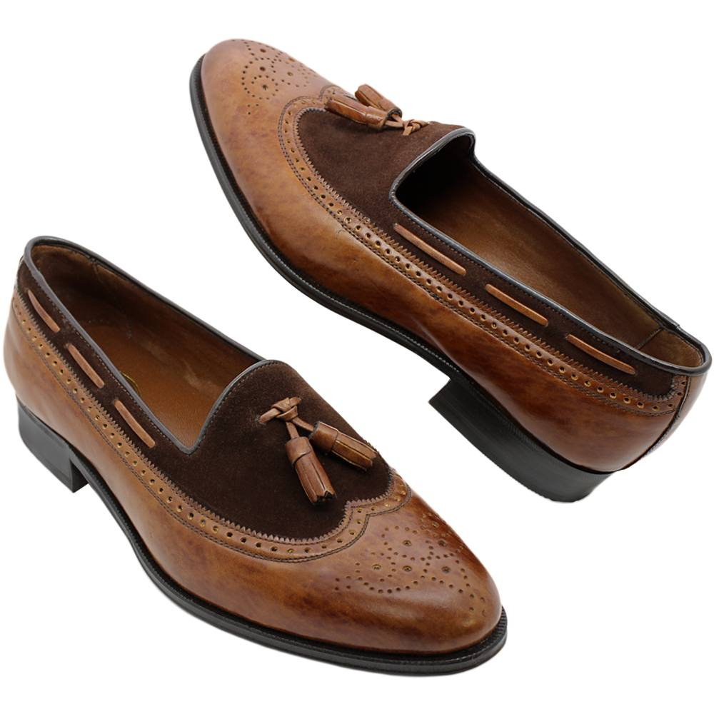 Sapato Masculino Brogue Longwing Tassel em 2 Cores 225BICHAV