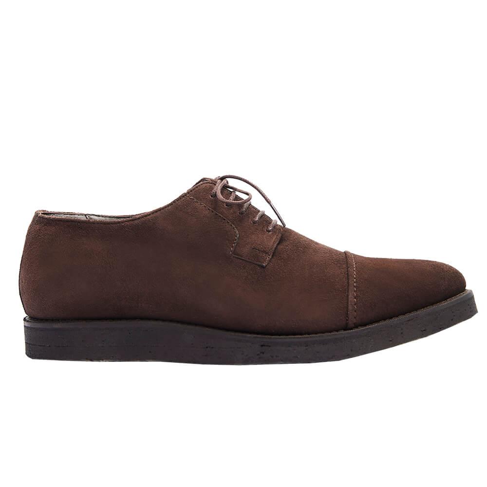 Sapato Masculino Cap Toe Derby em Camurça 2600CAMCAF Borelli