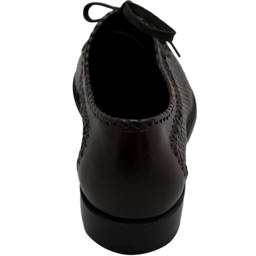 Sapato Masculino Oxford Confortável em Tresse cor Marrom Café 02TRMAR