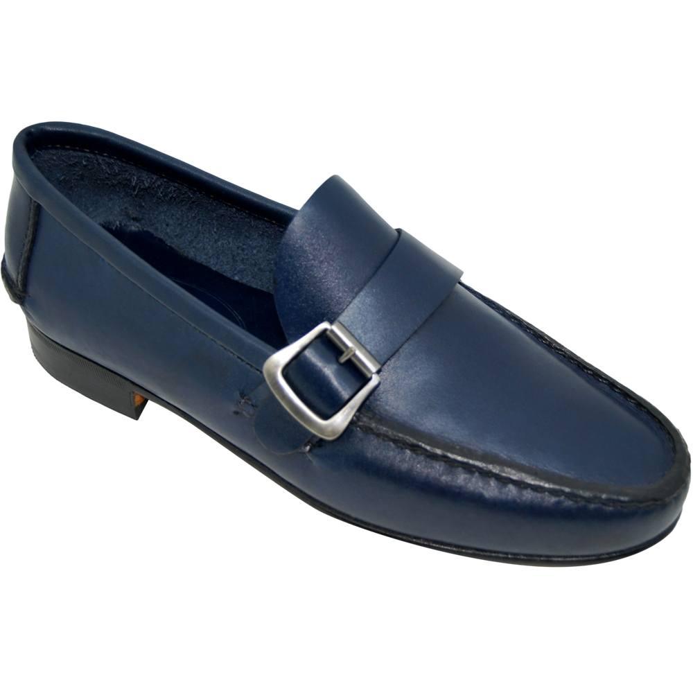 Sapato Masculino Mocassim Argentino cor Azul Marinho 066FNAZU