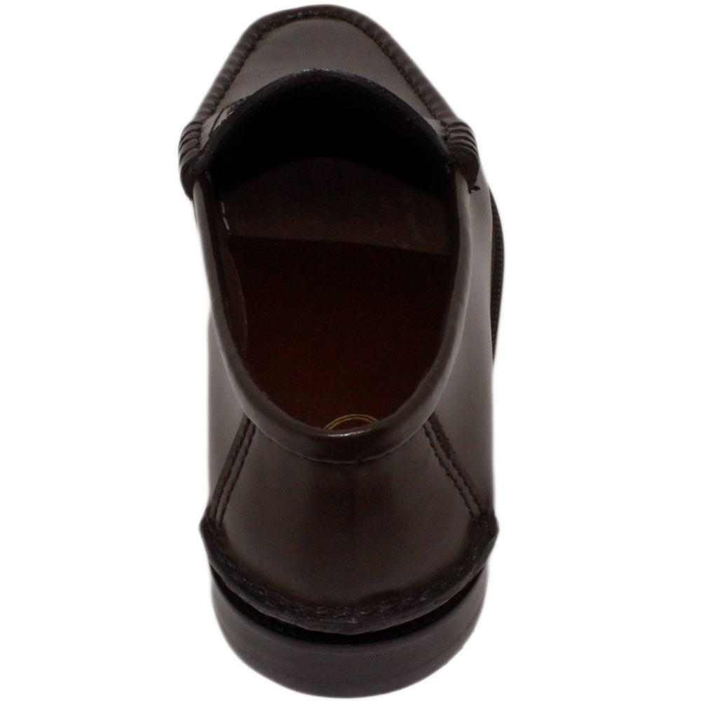 Sapato Masculino Mocassim College Americano cor Marrom Café 066CAF BOX