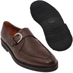 Sapato Masculino Monk Marrom Café Sola Leve 058GRBRCAF
