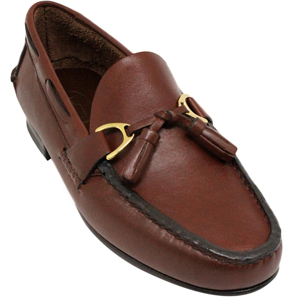 Sapato Masculino Mocassim estilo Argentino cor Pinhão 066PGPIN
