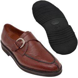 Sapato Masculino Monk Cor Pinhão Solado Leve 058GRBRPIN