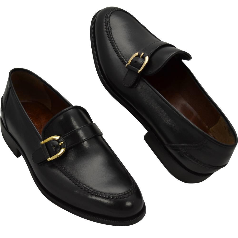 Sapato Masculino Mocassim Cor Preto estilo Italiano 221NPRE