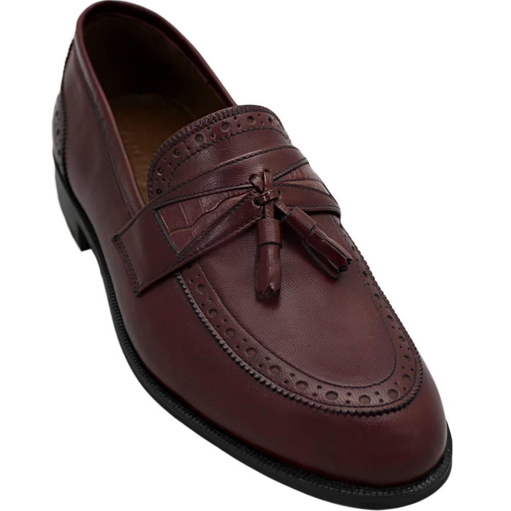 Sapato Masculino Tassel Loafer cor Vinho 109DDOVIN