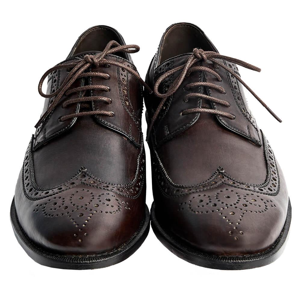 Sapato Masculino Derby Brogue cor Marrom Café 2100CAF