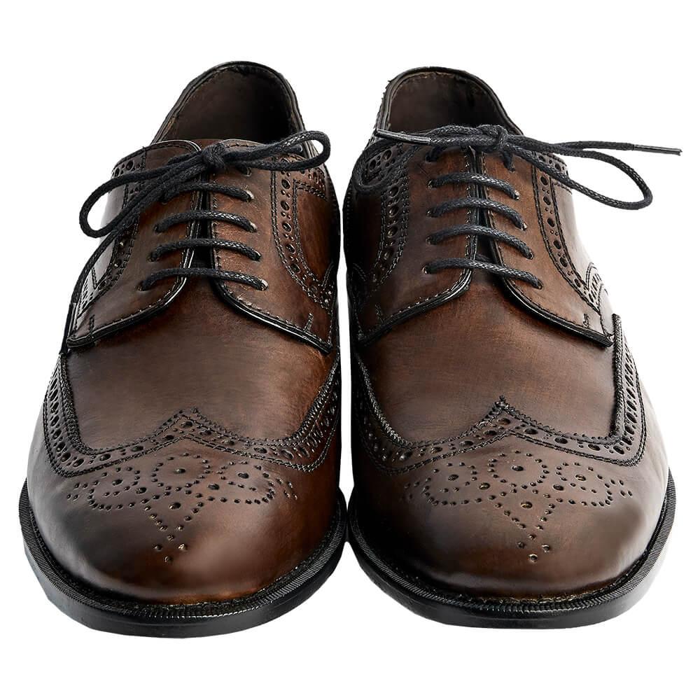 Sapato Masculino Derby Brogue cor Marrom Esverdeado 2100GREEN