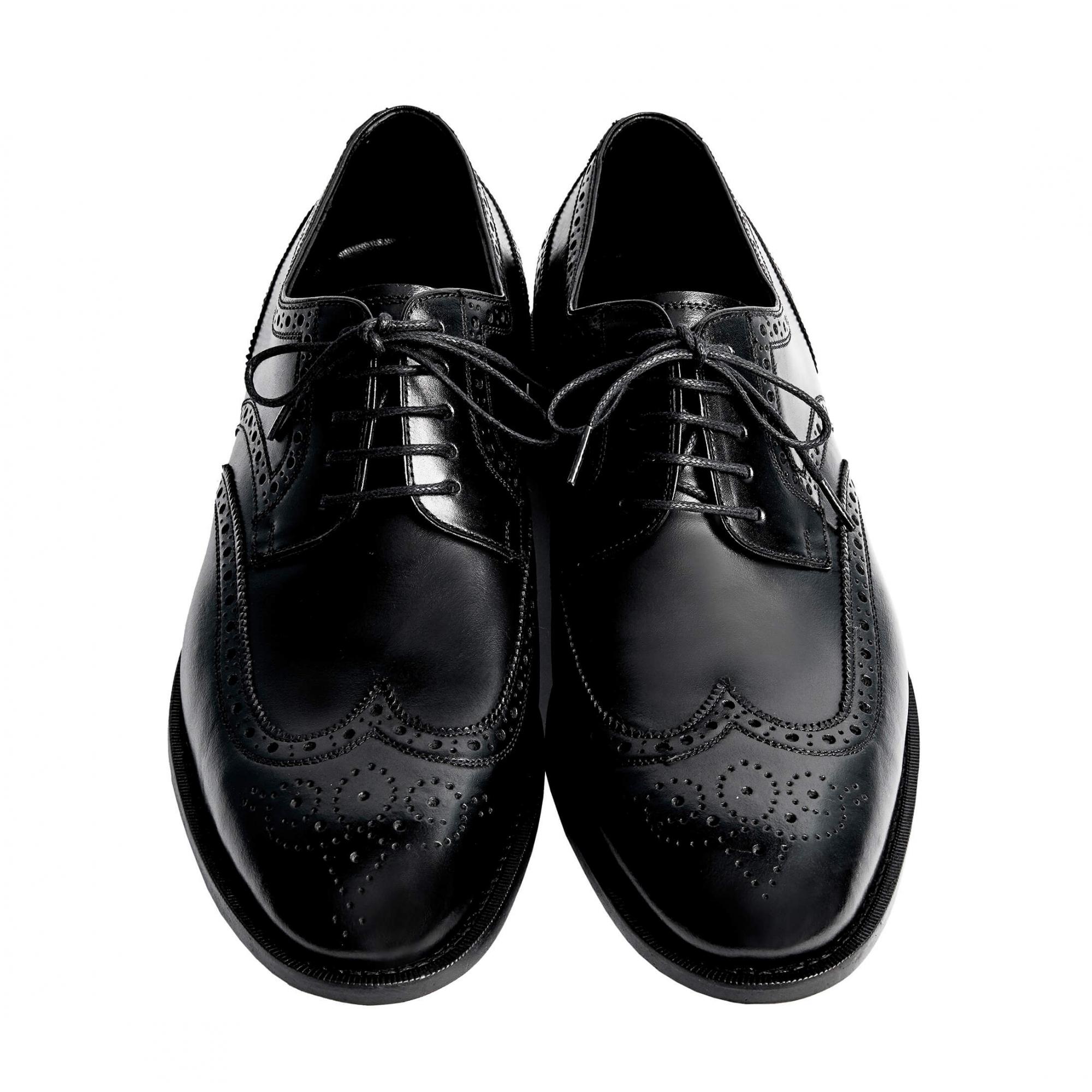 Sapato Masculino Derby Brogue cor Preto 2100PRE Wellington