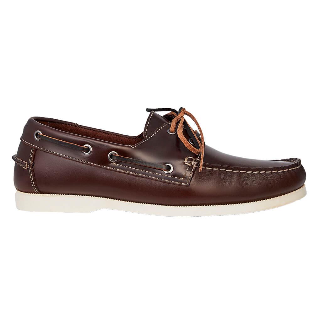 Sapato Masculino Dockside Cor Tabaco Sola Branca 00250TABSB