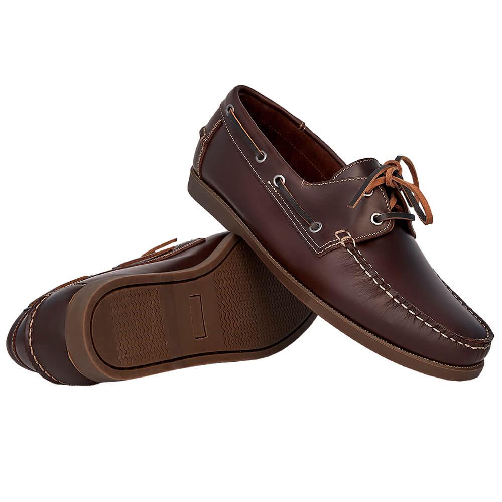 Sapato Masculino Dockside Cor Tabaco Sola Escura 00250TABSE