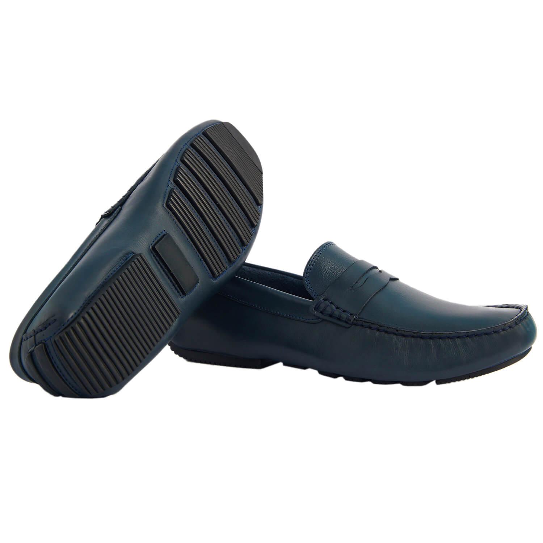 Sapato Masculino Esportivo Driver cor Azul Marinho 26815AZU Riccione
