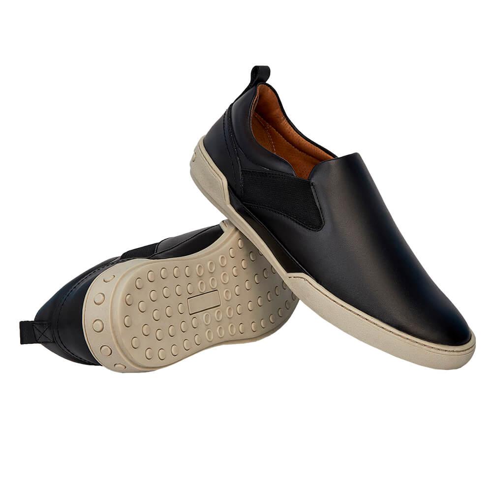 Sapato Masculino Esportivo Slip On Madrid Preto 20304PRE