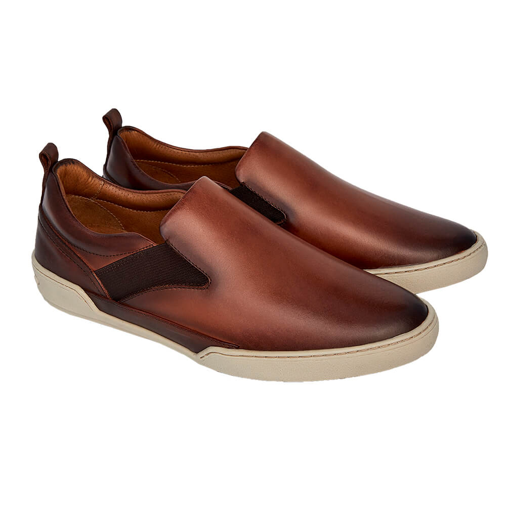 Sapato Masculino Esportivo Slip On Madrid Whisky 20304WSK