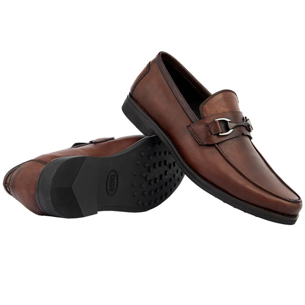 Sapato Masculino Loafer Horsebit cor Mogno 111BDMOG Luigi