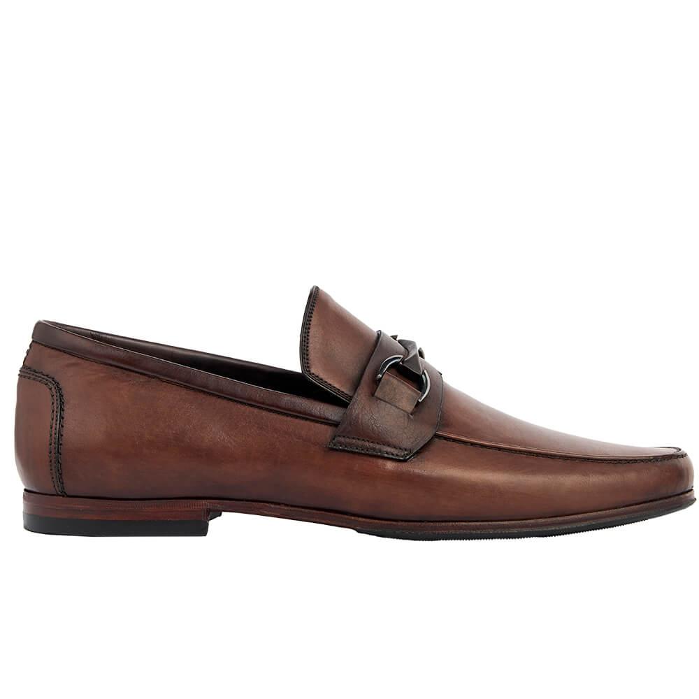 Sapato Masculino Loafer Horsebit cor Mogno 111MOG Enzo