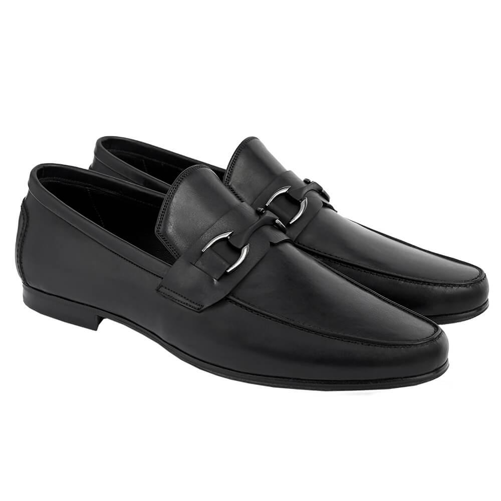 Sapato Masculino Loafer Horsebit cor Preto 111PRE Enzo