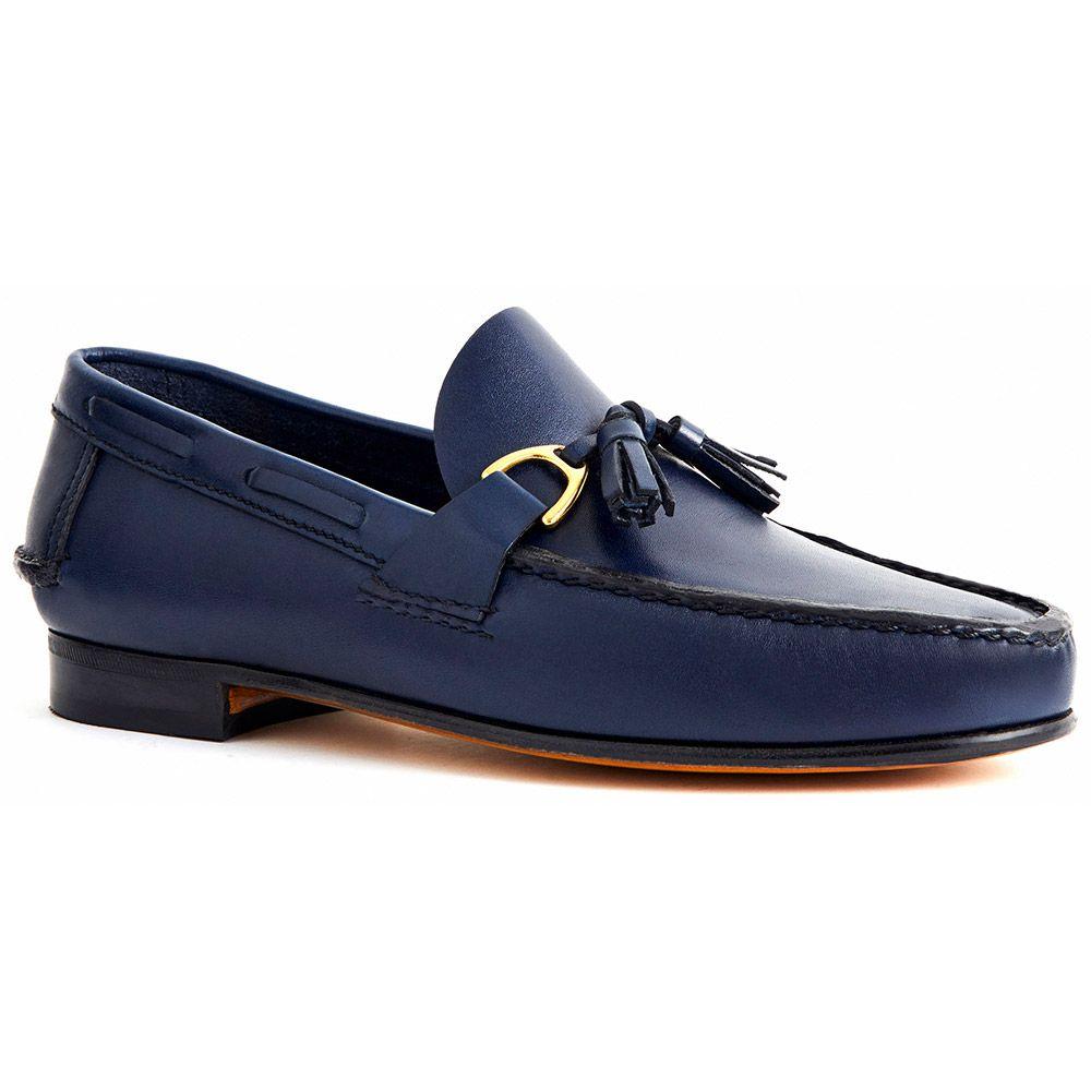 Sapato Masculino Mocassim Argentino cor Azul 066PGAZU