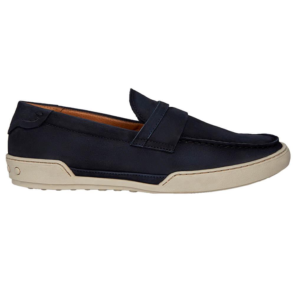Sapato Masculino Mocassim Casual Madrid Cor Azul 20301AZU