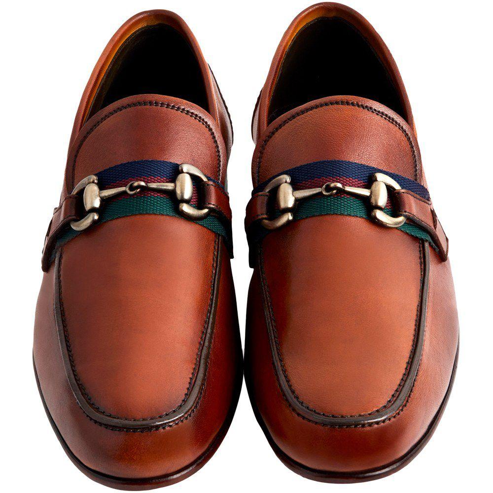 Sapato Masculino Mocassim Casual cor Avelã 050BDAVE