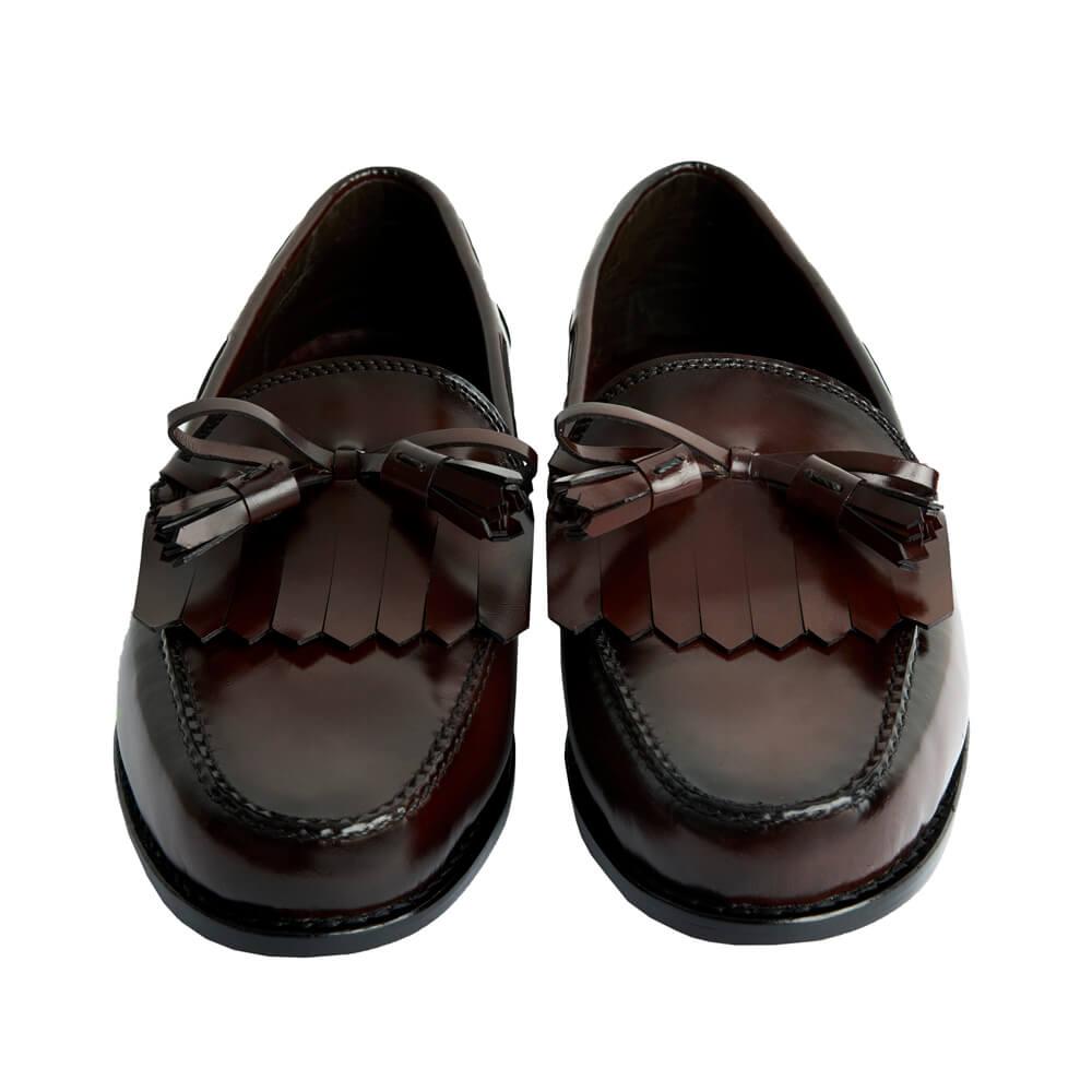 Sapato Masculino Mocassim estilo Americano cor Vinho Fumê M301LAÇOVIN