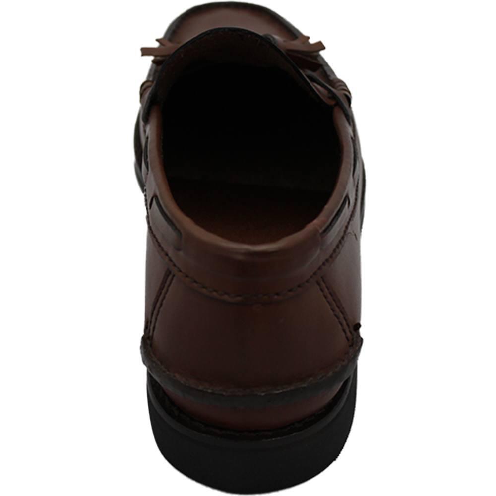 Sapato Masculino Mocassim Esportivo estilo Argentino cor Havana 060BCAS