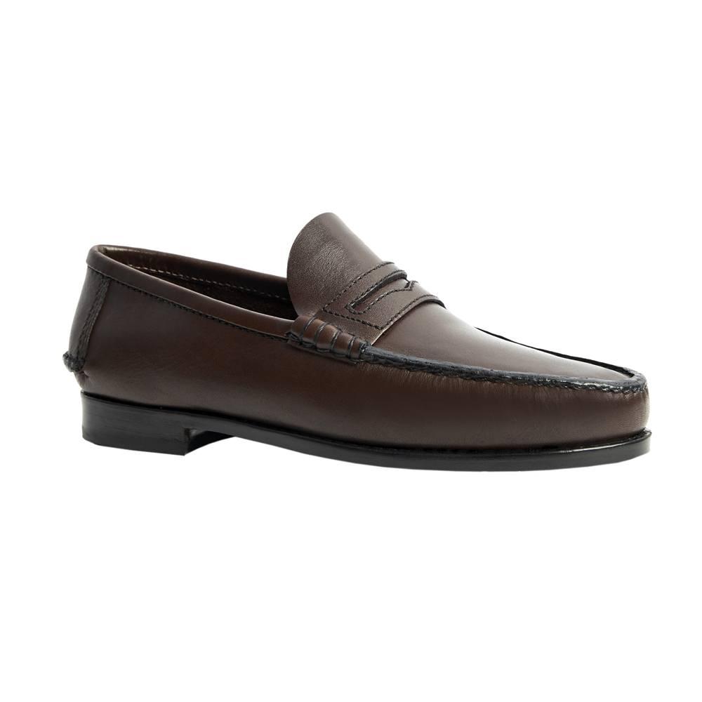 Sapato Masculino Mocassim estilo Argentino cor Marrom Café 066MNCAF