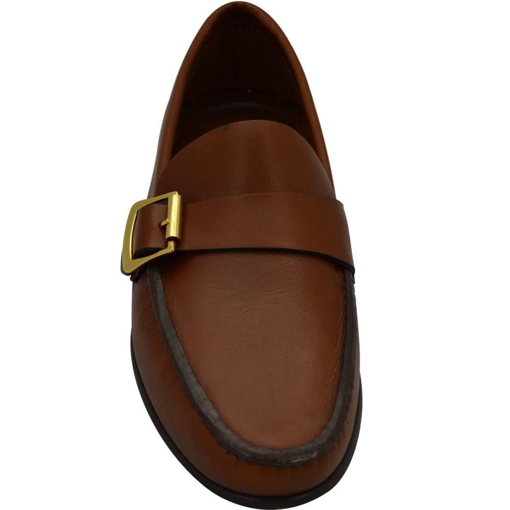 Sapato Masculino Mocassim estilo Argentino cor Havana 066FNCAS