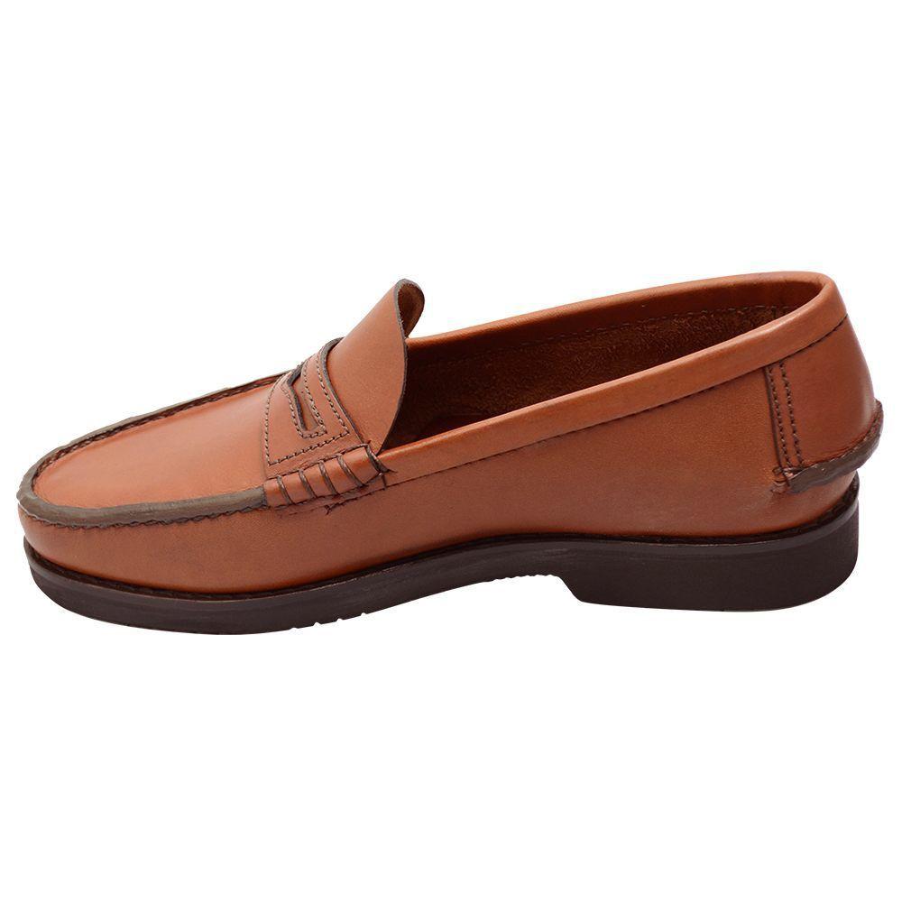 Sapato Masculino Mocassim Exclusivo Sola Vibram Cromo Argentino Castanho 066MVIBCAS