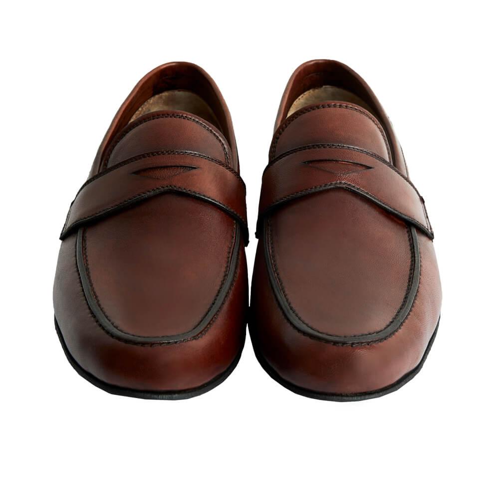 Sapato Masculino Mocassim Flexível cor Mogno 050MMOG