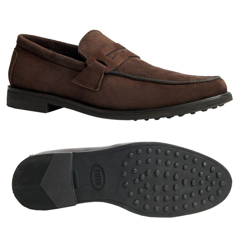 Sapato Masculino Outono Inverno Mocassim Penny Loafer em Camurça 111MBCAMCAF
