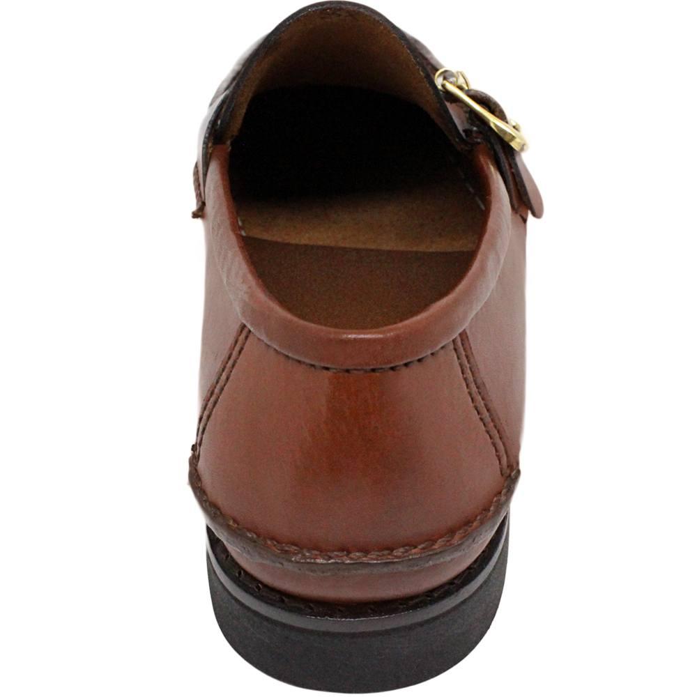 Sapato Masculino Mocassim Solado em Borracha cor Pinhão 066FBPIN