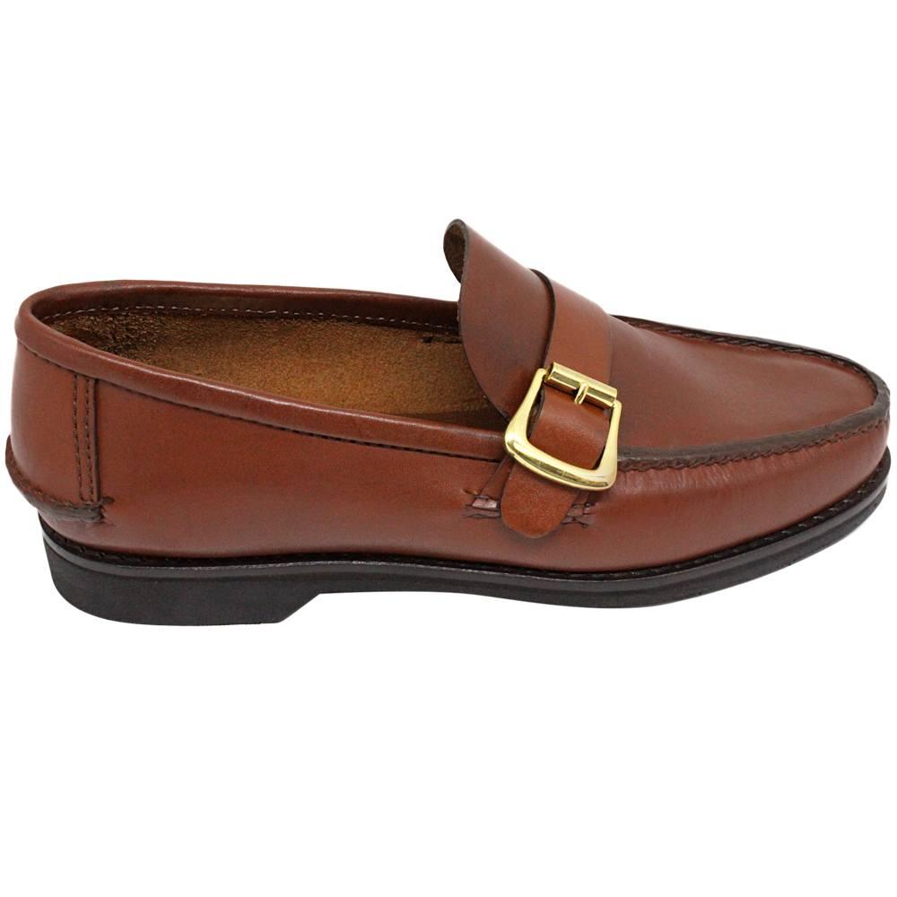 Sapato Masculino Mocassim Argentino cor Pinhão 066FBPIN
