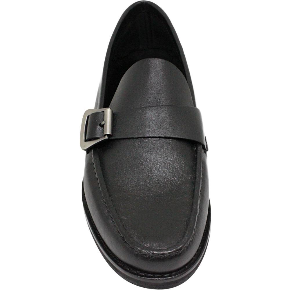 Sapato Masculino Mocassim Preto Solado em Borracha 066FBPRE